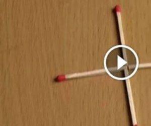 VIDEO! 9 din 10 oameni nu știu răspunsul! Cum poți forma un pătrat mutând un singur băț de chibrit