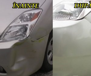 VIDEO: Cum să-ţi repari maşina după accident, simplu şi eficient, cu uscătorul de păr! Service-urile pot da faliment
