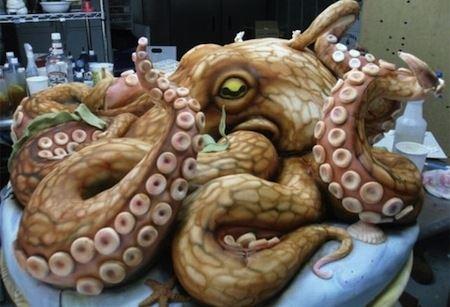 kue berbentuk hewan laut