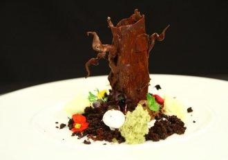 Pădure - desert cu multă ciocolată și fructe