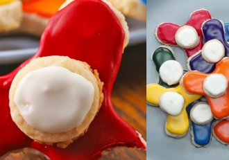 Surprinde-ți copilul cu biscuiți în formă de Fidget Spinner!  Jucăriile momentului la tine în farfurie! Yummmmy!